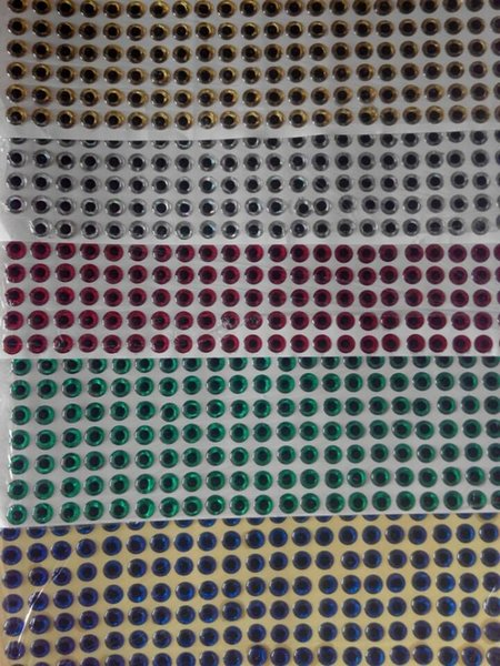 1000pcs/set 3d/flat lure making fish eye toy eye