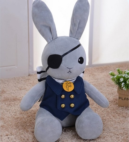 Black Butler Ichiban Kuji Last Cosplay Pirate Rabbit Soft Toy Anime Stuffed & Plush Cartoon Doll
