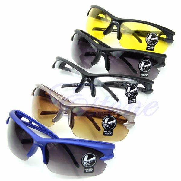 Мотоцикл УФ защитные очки Велоспорт езда работает спортивные солнцезащитные очки новый