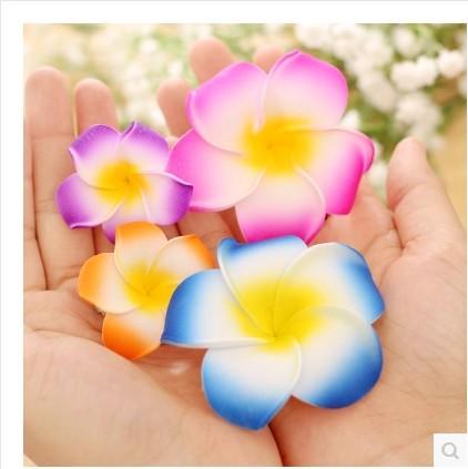 Free Shipping!! Hawaiian Plumeria Foam Flowers Hair Clips barrettes accessories fashion hair pins for women girls