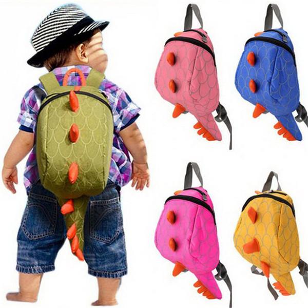 Kids Kindergarten Cute Cartoon Animal Tail Zaino Bambino Dinosaur Mini School Bags Snack Borse per bambini e ragazzi