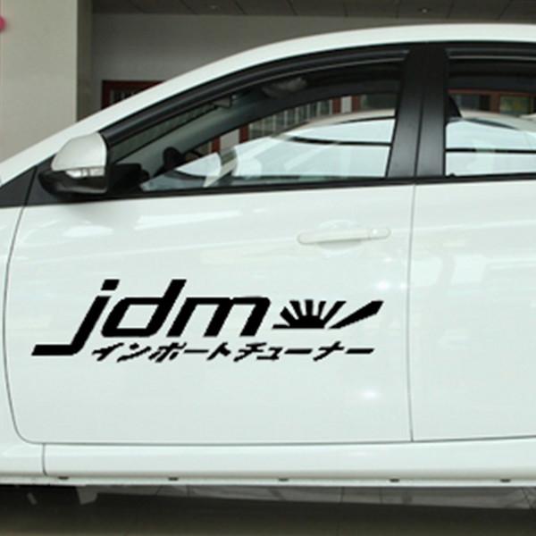 13.6cm x 60cm Racing Japan Kanji Car Sticker For Cars Door Side Truck Window Rear Windshield Vinyl Decal 8 Colors