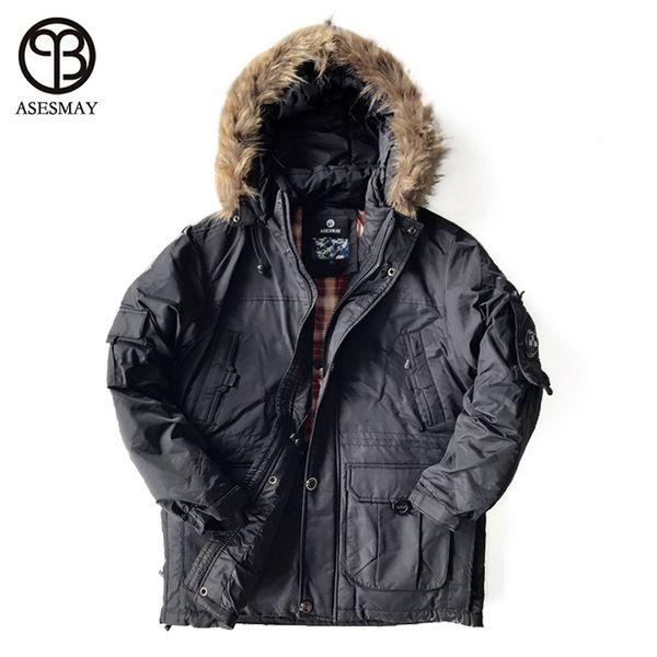Asesmya 2017 New Fashion Winter Outwear Down Jacket Men Casual Wellensteyn Parka Male Winter Jackets Plus Size Thick Warm Coats Canada 2019 From