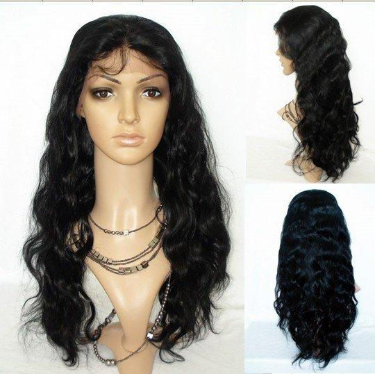 Human Hair Full Lace Wigs Pre Plucked Natural Hairline Body Wave Brazilian Remy Hair Lace Front Wigs 1# Jet Black Color