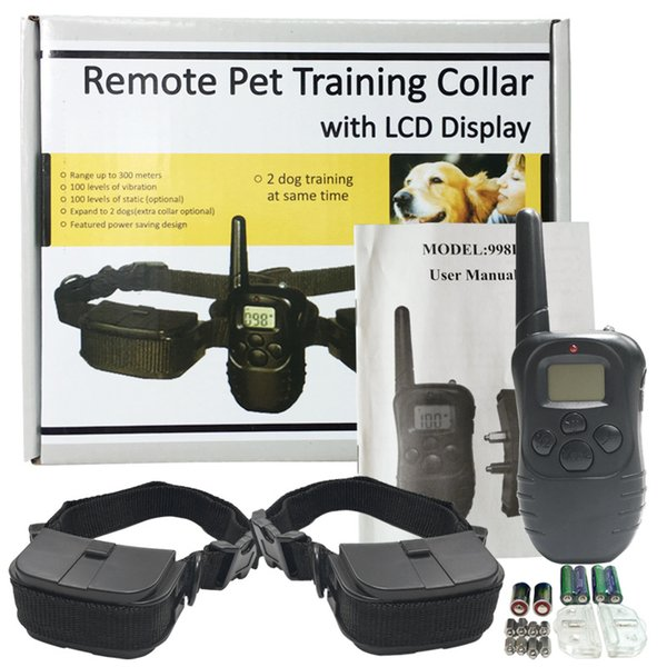 Pet Training Supplies Remote Control Electronic Dog Training Collar Pet Stop Barking Device For 2 Dogs DHL Free 161008