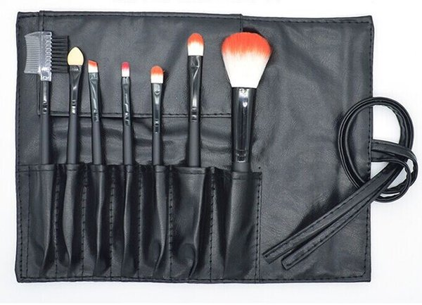 New Hot Makeup Brushes Sets Wood Handle Multi-Functional Black Brushes Kits Makeup Tools with Black PU Bag 7PCS/set Discount Price
