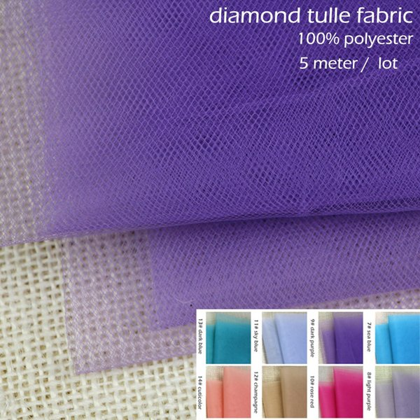 Dress Net 100/% Polyester Tulle Fabric Material VIOLET