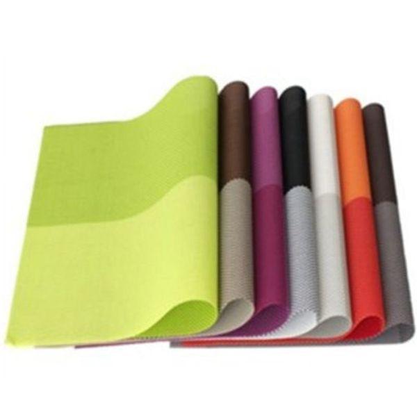Atacado-New PVC impermeável Placemats isolamento Mat Table Coasters cozinha mesa de jantar