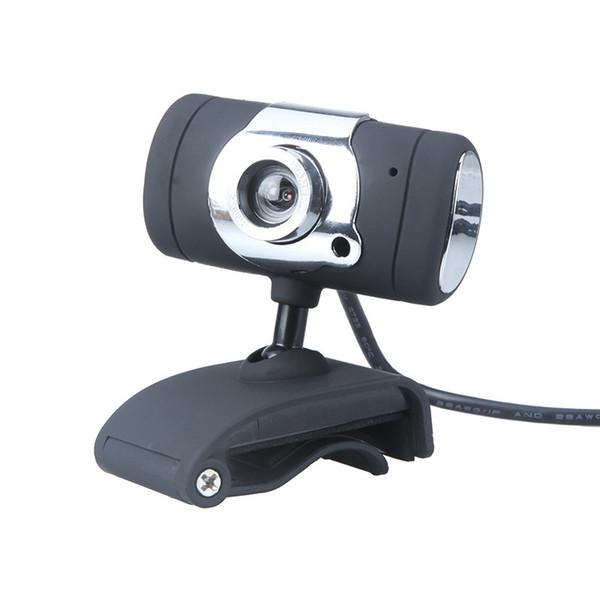 Siyah USB 2.0 50.0 M HD Webcam Kamera Web Kamera Dijital Video Webcamera Bilgisayar PC Laptop için Mikrofon MIC ile