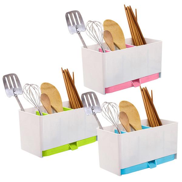 Bleu coloré outils de stockage de cuisine Drain chopsticks Cage Accessoires de cuisine organisateur perchero