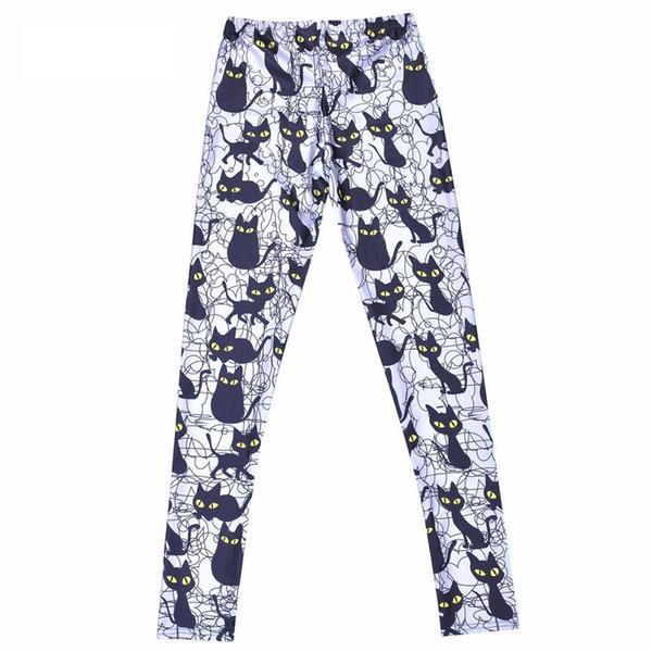 Sport Fans High Elastic Slimt Fit Cheap Cats Camouflage Pants Digital Full Print Leisure Capris Sex Slim Fit Trousers PWDK22-03 WR