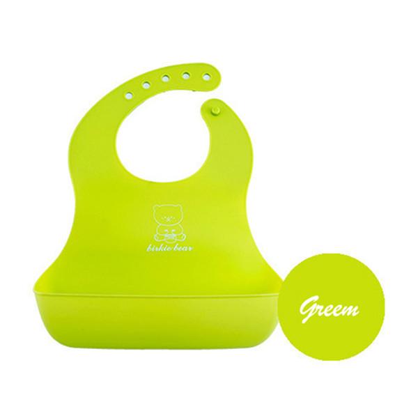 Al por mayor- Bebé babero de los niños comen de bolsillo a prueba de agua de silicona toalla de saliva bebé suministros maternales y infantiles de alimentación