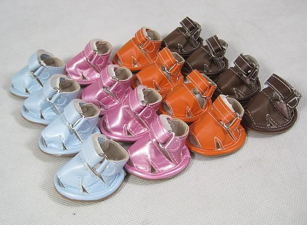 New Arrival New Arrival Cheap Pet Puppy Dog Sandals Shoes Leather Material Sandals For Pets Blue, Purple, Orange, Brown Color Hot Sale