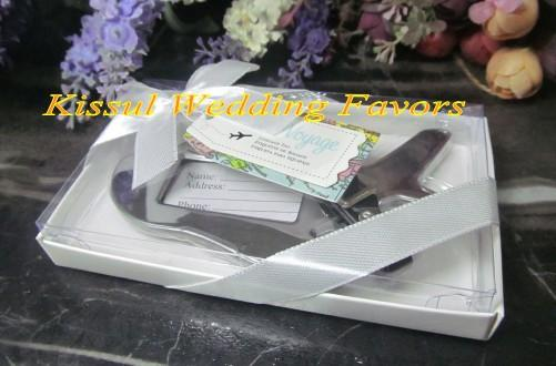 0fad0a1348b4 Wedding Party Favors Airplane Luggage Tag In Gift Box With Suitcase Tag For  Wedding Gifts And Wedding Souvenirs Black And White Bachelorette Party ...