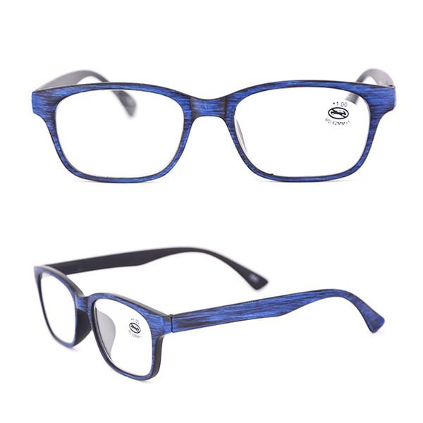 Venta al por mayor de los hombres Gafas de lectura Negro Madera Rectángulo Lectores Rojo para hombre Moda Olders Aumento de fuerza +1.00 2.0 3.0 175098
