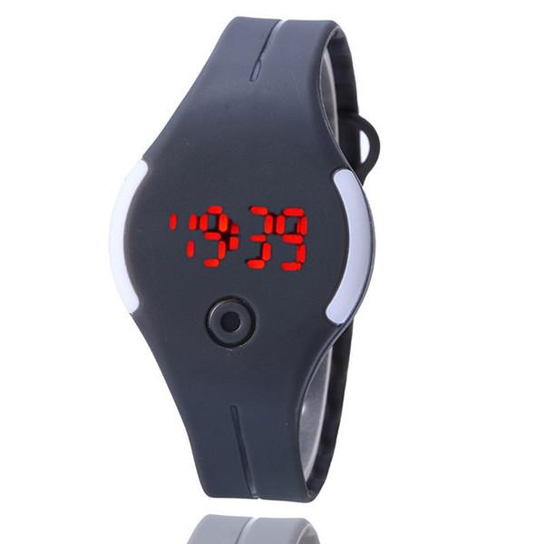 Hot sale Bracelet Electronic Rubber LED Watch Date Sports Bracelet Digital Wrist Watch Female Hours sport watches for women Well