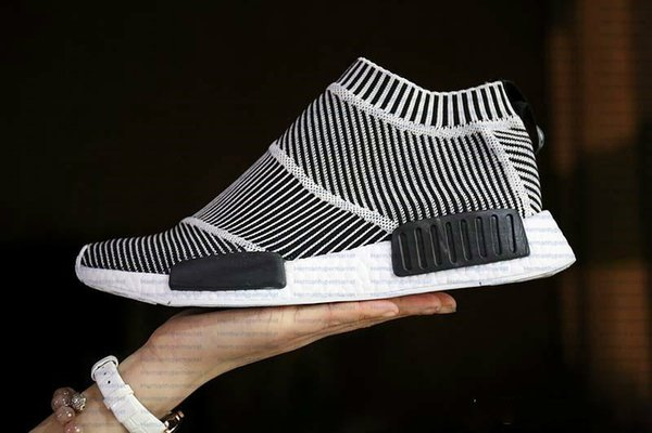 Acheter NMD Ville Sock Men And Women S79150 Shoe, NMD CS1 Ville Sock PK Noyau Noir Vintage White FTWR Blanc, Sports Casual Shoe Chaussures De