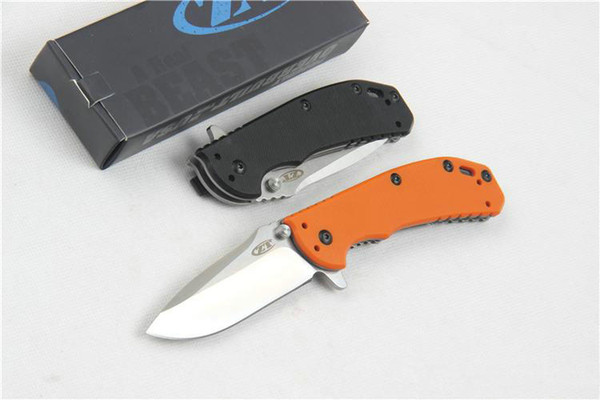 best selling Strider ZT Zero Tolerance 0566 Tactical Folding Knives D2 Ball Bearing System G10 Camping Hunting Survival Pocket EDC Tools Collection