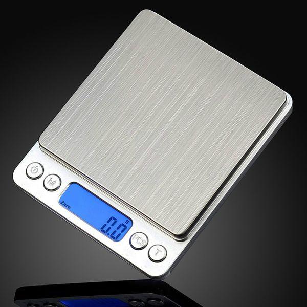 Escala de la cocina de Digitaces 1000g / 0.1g Balanzas de bolsillo electrónicas portátiles Precisión de la joyería postal del LCD Escala del equilibrio del peso