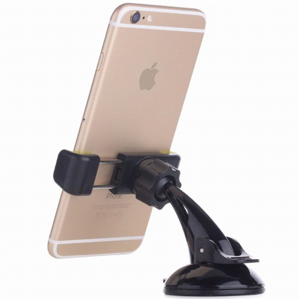 Rock 360 degree rotate Phone Holder Car Windshield Mount Cell Mobile Bracket Stands for iPhone 5 6 Plus Galaxy Note 2 S4