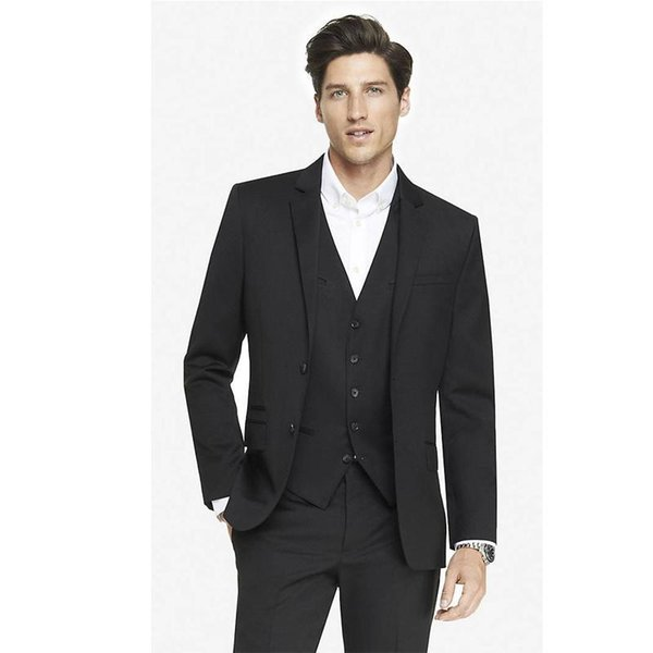Custom Made Mens Wool Blended Suit for Man Groom Tuxedos Party Suit Business Suits Wedding Suits(Jacket+Pants+Vest)