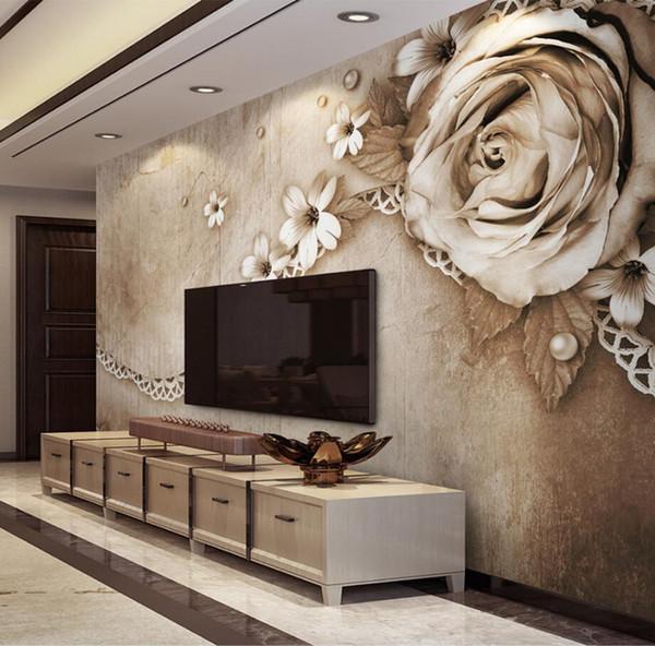 3D Geprägte Blume HD Fototapete Wandbild Für Wohnzimmer Sofa TV Hintergrund  Wand Dekor Papier Peint 3d
