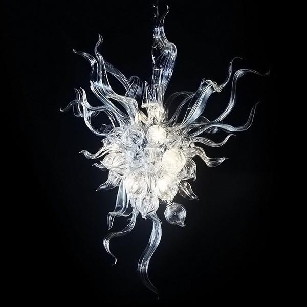 New Arrival Designer 100% Hand Blown Glass Chandelier Light Vintage and Small Size Flower Design Art Decoration Glass Cheap Chandelier