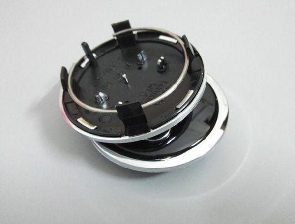 100pcs / lot 69mm gris / noir enjoliveur de centre de roue couvercle emblème de voiture emblème pour audi A4 A6 RS6 logo alliage badge, 4b0601170a, voiture st
