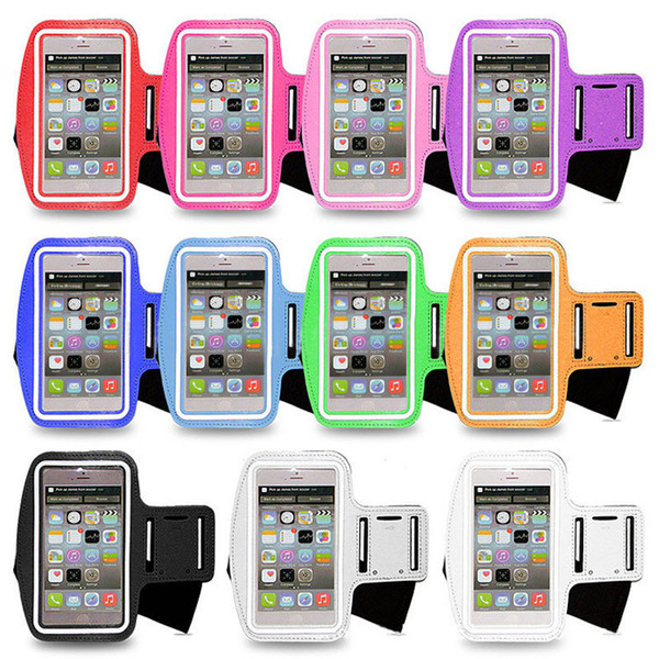 Free Shipping Sports Armband for 5inch 6inch Cell Phone Gym Bag Running Mobile Phone Pouch Cover Arm band