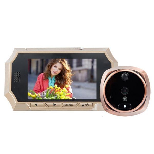 4.3inch olho magico video porteiro IR Night vision PIR Motion Detection digital peephole Photos Taking Video Recording Max 32GB