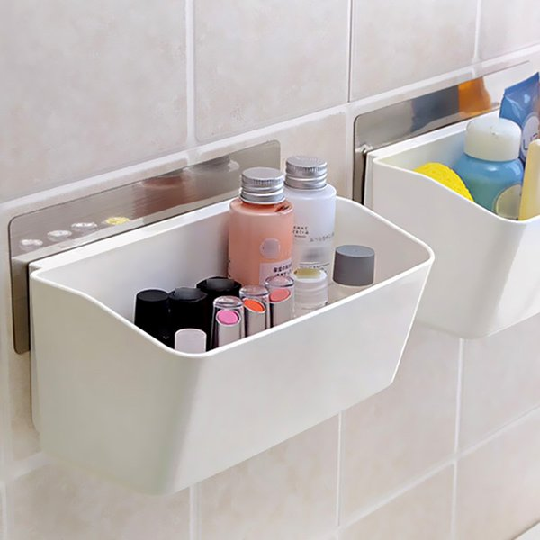 2019 Self Adhesive Wall Storage Rack, Multi Functional Bathroom Kitchen  Shelving Shelves For Storage Kitchen Bathroom Storage E5M1 Order≪$18no Tr  From ...