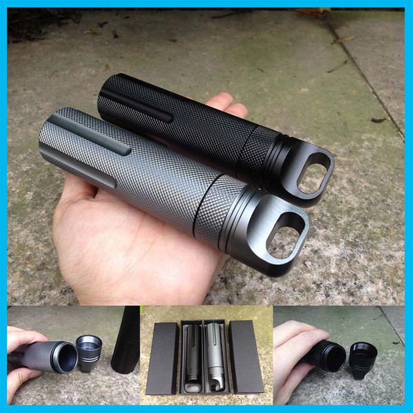 EDC Outdoor Survival Waterproof Tank Medicine Pill Bottle Mini EDC Box Camping Gear Tactical Gear Equipment