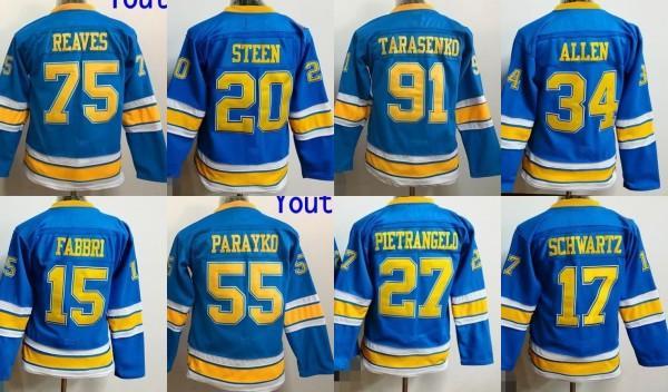Youth Kids 27 Alex Pietrangelo Jersey, 2017 Winter Classic Premier Jersey St. Louis Blues 100% ricamo cucito Logos Hockey Maglie