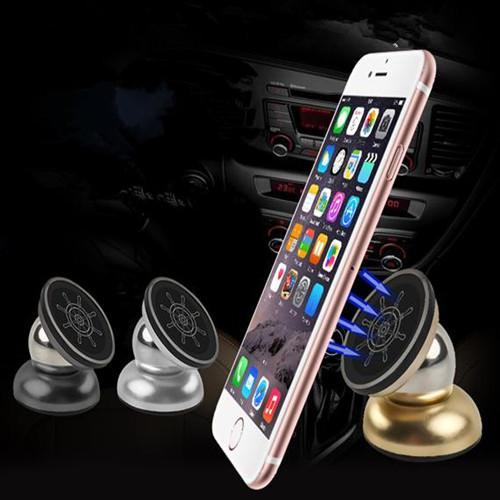 Soporte universal para coche para iphone 6 soporte multifuncional imán giratorio 360 grados soporte para teléfono móvil para samsung s7 dhl oth198