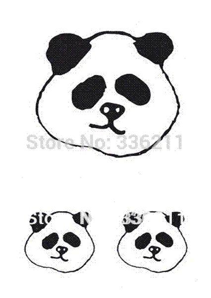 TTH017 3pcs/lot Water Transfer Stickers Decal 3D Tatoo Cute panda pattern waterproof body paint temporary tattoo Free Shipping