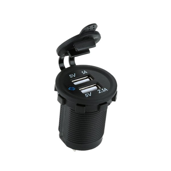 Auto Motorcycle Dual USB Car Charger Power Adapter Socket Outlet waterproof Mobile Phone Charger Truck Minibus for ATV Boat
