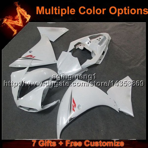 23colors+8Gifts WHITE ABS motorcycle Fairing for Yamaha YZF-R1 09- 11 YZFR1 2009 2010 2011 ABS Plastic Fairing