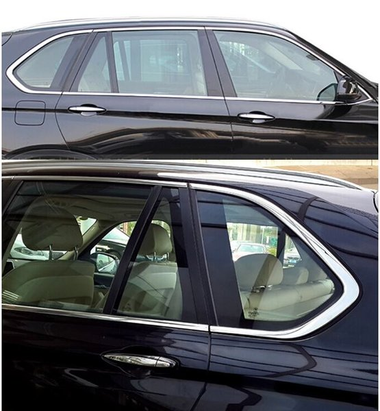 10pcs Stainless Steel Door Full Window Sill Frame Molding Trim For BMW X5 E70 2008-2013 Free