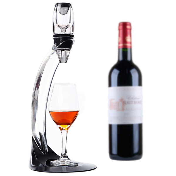High-Quality Acrylic And Silicone Wine Aerator Magic Deluxe LED Adjustable Wine Aerator Set Essential Decanter Gift Box B