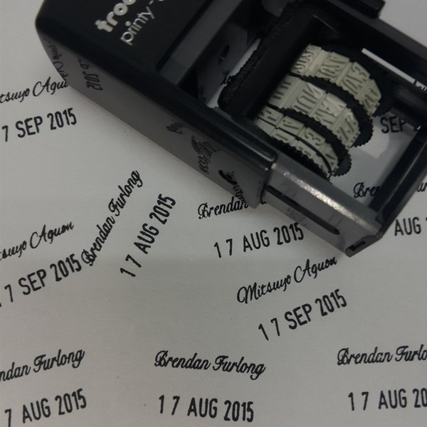 2019 Wholesale Custom Signature Date Stamp Teacher Signature Stamp Self Inking Stamp Adjustable Date Seals Custom Logo Stamp Any Font From Yuancao