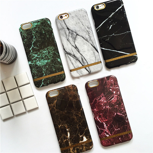Fashion Black White Phone Case for iphone 8 7 6s 6 plus Cover Marble Grain Soft TPU Case for iphone 7plus 6plus