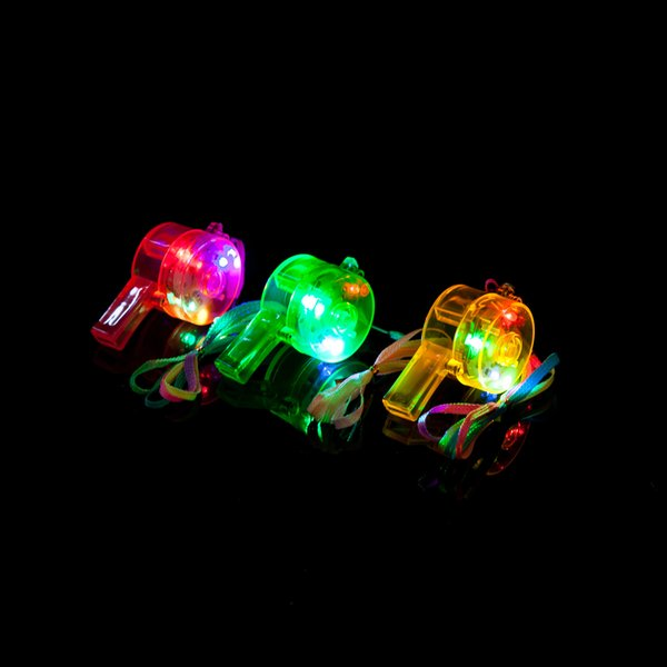 hot selling newest Round lights cheers, flashing whistles, bar parties, atmosphere supplies, luminous whistle lights, toys wholesale