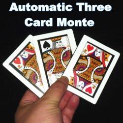 Envío gratis Automático Tres Cartas Monte trucos de magia apoyos mágicos jugando a las cartas etapa close up magia