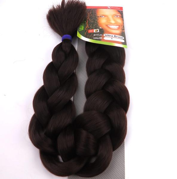 "best selling Good Quality 100% Kanekalon Xpression Braiding Hair 82"" 165g Synthetic Bulk Hair For Braiding Jumbo braid hair Free Shipping"