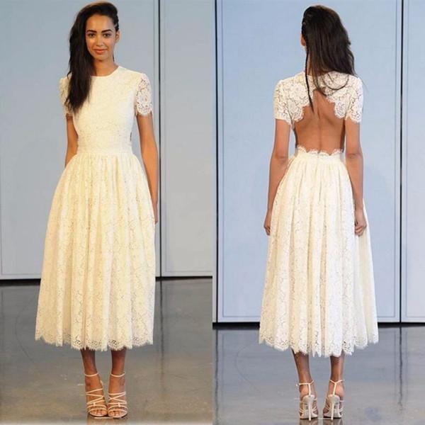 Vintage Lace Tea Length Dress