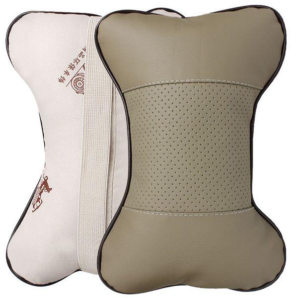 Yeni Deri Delik-kazma Araba Kafalık Malzemeleri Boyun Oto Güvenlik Yastık # HA10428
