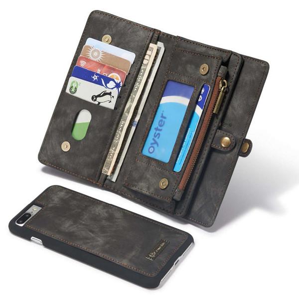 Caso di vibrazione del raccoglitore del raccoglitore della borsa degli uomini delle donne del cuoio genuino per il iphone 6 6s 7 8 più supporto del telefono copertura della cassa del telefono per Iphone X 10
