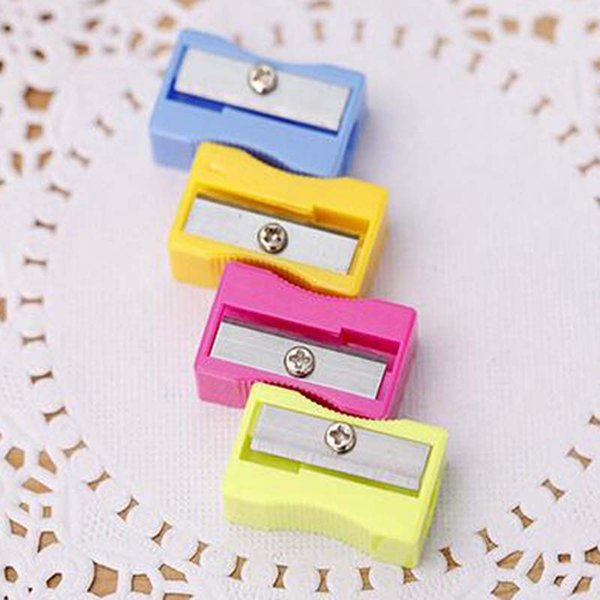 50pcs/lot High Quality Pencil Sharpener Office School Supplies Single Holes Pencil Sharpener Creative Free Shipping Papelaria