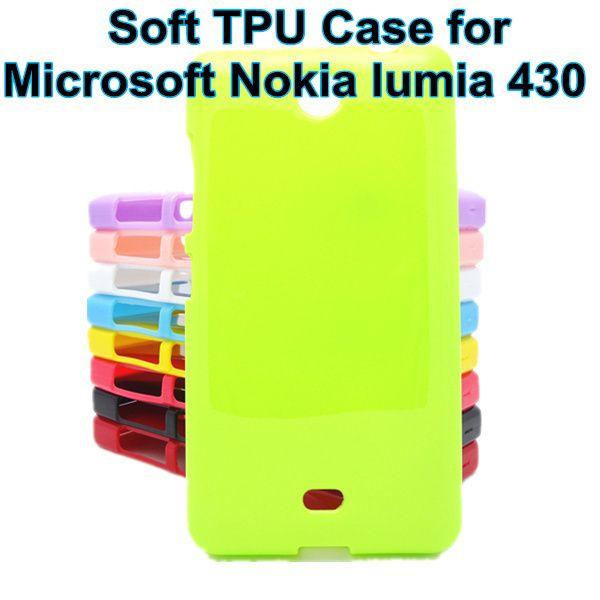 Atacado-silicone soft gel tpu capa case para nokia microsoft lumia 430 n430 case capa