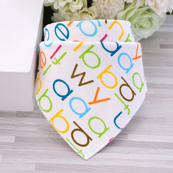 21 Styles Baby Bibs Cute Cotton Double Layer Newborn Triangle Scarf Cloths Bandana Infant Saliva Bavoir Towel Cartoon Printing Bibs ins Hot